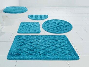 DELAVITA Badematte »Aidan« , Höhe 25 mm, strapazierfähig, 3D-Effekt, blau, blue