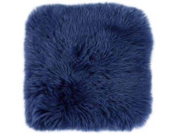 LUXOR living Fellkissen »Namika«, Dekokissen, eckig, 35x35 cm, echtes Lammfell, inkl. Kissenfüllung, Wohnzimmer, blau, nachtblau
