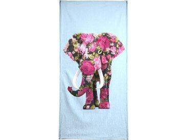 Juniqe Handtuch »Floral Elephant« (1-St), Weiche Frottee-Veloursqualität