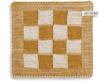 Knit Factory Tischdecke »Topflappen Block Ecru/Ocker«