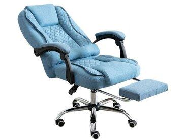 HTI-Line Schreibtischstuhl »Chefsessel Jackson«, blau, Blau