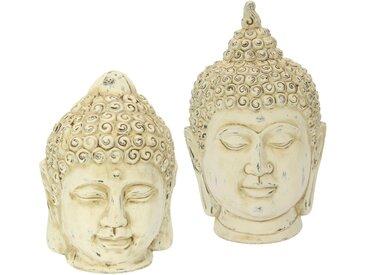 I.GE.A. Dekofigur »Buddha-Kopf«, 2er Set