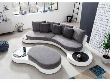 COTTA Big-Sofa, weiß, weiß-grau