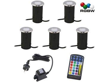 """VBLED LED Einbaustrahler » LED Bodeneinbauleuchte """"Callis"""" RGB+Warmweiß 1W 12V AC/DC (Leuchtmittel wechselbar)«, 5 St. - RGB+W"""