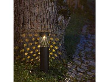 STAR TRADING LED Pollerleuchte »LED Solar Wegeleuchte Blace - warmweiße LED - H: 39cm - Dämmerungssensor«