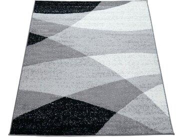 Paco Home Teppich »Fiesta 110«, rechteckig, Höhe 12 mm, Kurzflor, Designer Teppich, grau, grau