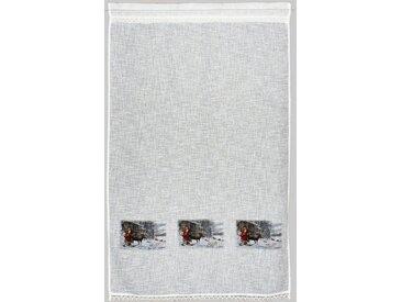 HOSSNER - ART OF HOME DECO Gardine »Weihnachtsmann«, Stangendurchzug (1 Stück), Landhaus-Look