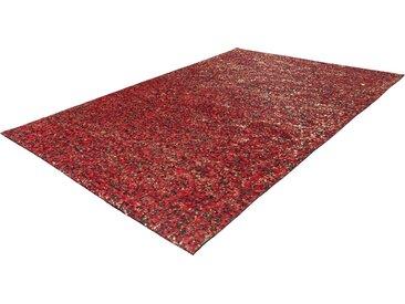 calo-deluxe Fellteppich »Vezzana 615«, rechteckig, Höhe 5 mm, echtes Rinderfell, rot, rot