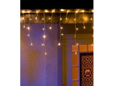 KONSTSMIDE LED Eisregen Lichtervorhang, weiß, Lichtquelle warm-weiß, 96 LEDs, Weiß