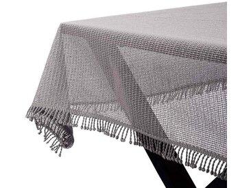 Woltu Gartentischdecke, Tischdecke mit Quaste geschäumt eckig, braun, khaki