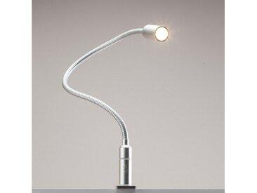 kalb Bettleuchte » 3W LED Bettleuchte dimmbar Leseleuchte Nachttischlampe Bettlampe Leselampe«, 1er Set silbergrau