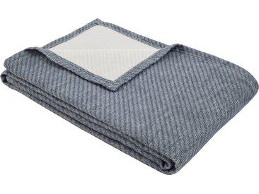 IBENA Wolldecke »Baumwoll-Tencel Decke Tennessee«, schlicht, blau, blau