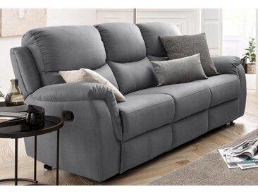 ATLANTIC home collection 3-Sitzer, mit Relaxfunktion und Federkern, grau, dunkelgrau