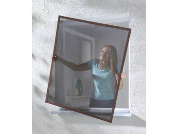 hecht international HECHT Insektenschutz-Fenster »MASTER SLIM POLLE«, braun/anthrazit, BxH: 100x120 cm, grau, Fenster, 100 cm x 120 cm, anthrazit