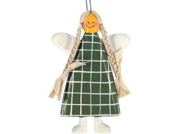 Guru-Shop Christbaumschmuck »Schutzengel, Weihnachtsengel, Chrisbaumschmuck,..«, bunt, grün-mehrfarbig