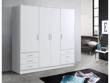 FORTE Kleiderschrank in diversen Ausführungen, weiß, Schubladen: 6 - Türen: 4, weiß