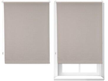 relaxdays Verdunklungsrollo »2x Thermorollo braun 80x160 cm«