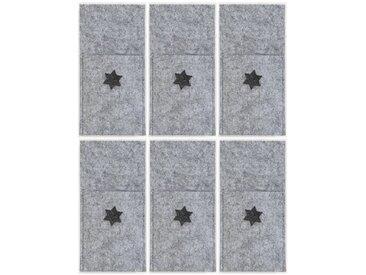 Dreams Platzset, »Stern«, (Set, 6-St), Bestecktasche, Filz