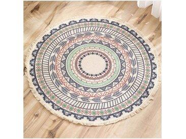 kueatily Teppich »Runder Teppich, böhmische bunte psychedelische Teppiche, indisch drinnen und draußen, Kinderzimmer, Schlafzimmer, Boho, runder Teppich, Patios