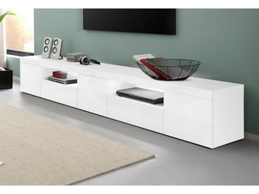 Tecnos Lowboard »Slot«, Breite 240 cm, weiß, weiß Hochglanz