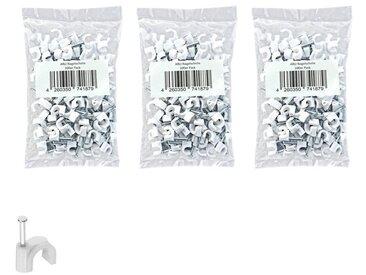 ARLI » 300x Nagelschelle 100x 6 - 7 mm + 100x 9 - 10 mm + 100x 11- 12 mm Kabelschelle Kabelklemmen Schelle Schellen für Kabel Befestigung« Kabelzubehör