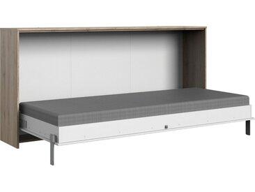 Wimex Schrankbett »Juist« horizontal klappbar, weiß, weiß - San Remo Eiche Nachbildung