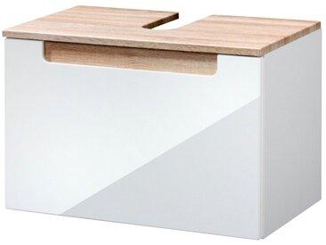 HELD MÖBEL Waschbeckenunterschrank »Siena« Badmöbel, Breite 60 cm, natur, eiche - weiss