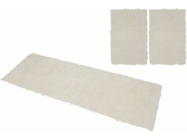 KiNZLER Hochflor-Bettumrandung »Pireo« , höhe 70 mm, (3-tlg), synthetischer Flokati, natur, natur