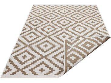 my home Teppich »Ronda«, rechteckig, Höhe 5 mm, In- und Outdoor geeignet, Sisaloptik, Wendeteppich, braun, braun