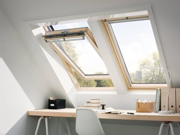 VELUX Dachfenster »GGL CK02«, Schwingfenster, BxH: 55x78 cm, grau, Kippfunktion, anthrazit