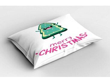 Abakuhaus Kissenbezug »Dekorativer Standard Size Gedruckter Kopfkissenbezug«, Weihnachten Baum Shaped Joyous Plätzchen