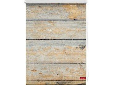 LICHTBLICK Seitenzugrollo »Klemmfix Motiv Bretter Shabby«, Lichtschutz, ohne Bohren, freihängend, bedruckt
