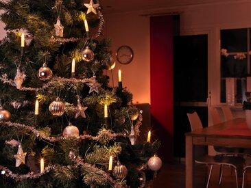 KONSTSMIDE LED Baumkette, Schaftkerzen, grün, Lichtquelle warm-weiß, Grün