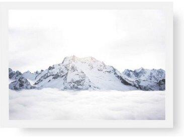 POSTORO Bild »Above The Clouds«, Weißer Holzrahmen, DIN A4