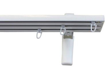 GARESA Gardinenschiene »Flächenvorhangschiene 2 - 5 lauf, spezial«, 3-läufig, Wunschmaßlänge, weiß, weiß