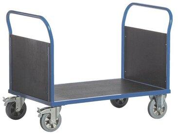 ROLLCART Doppelwandwagen 160x80 cm Ladefläche, blau, blau