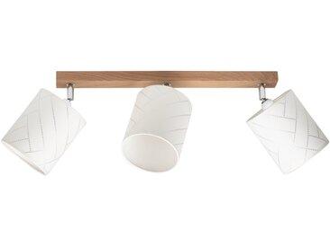 BRITOP LIGHTING Deckenleuchte »PUNTO«, Schirme aus laminierter Tapete, Baldachin aus Eichenholz mit FSC®-Zertifikat, bewegliche Spots