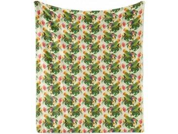 Abakuhaus Foulard »Gemütlicher Plüsch für den Innen- und Außenbereich«, Hibiskus Tropische Blumen Parrot