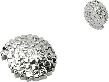 Liedeco Dekomagnet »Steinoptik«, Gardinen, (Packung, 2-St), für metallische Flächen