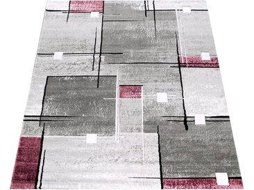 Paco Home Läufer »Florenz«, rechteckig, Höhe 16 mm, Designer Teppich mit Konturenschnitt, lila, lila