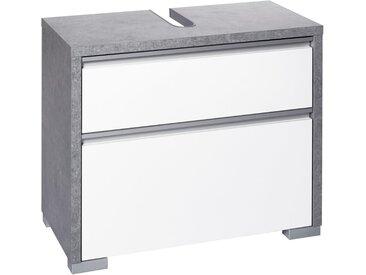 Schildmeyer Waschbeckenunterschrank »Bello« Breite 67 cm, grau, steingrau-weiß glanz