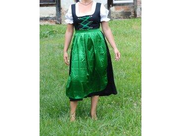 Scherzwelt Kostüm »Dirndl lang mit Bluse und grüner Schürze - Oktoberfest - Tracht«