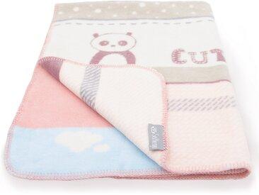 SEI Design Babydecke »90x120 Panda Rosa Kuscheldecke«, Wendedecke