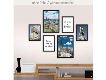 Kreative Feder Poster, Köln, Stadt, Deutschland, historisch, Architektur, Dom (Set, 6 Stück), 6-teiliges Poster-Set, Kunstdruck, Wandbild, Posterwand, Bilderwand