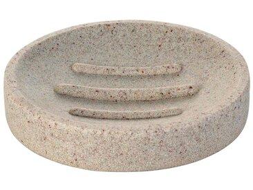 RIDDER Seifenschale »Stone«, rund, natur, sandbeige