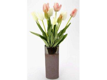 I.GE.A. Kunstblume »Real-Touch Tulpen«, Höhe 54 cm, Vase aus Keramik