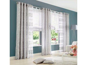 my home Gardine »Camposa«, Ösen (2 Stück), Vorhang, Fertiggardine, transparent, grau, grau