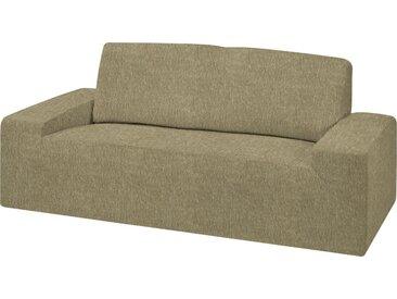 Dohle&Menk Sofahusse »Teide«, monoelastische Stretchware mit hohem Baumwollanteil, braun, 2-Sitzer, taupe