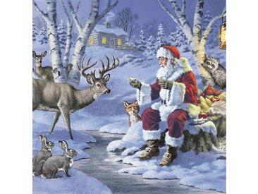 Paper+Design Papierserviette »Weihnachten im Wald«, (5 St), 33 cm x 33 cm, 5 St.