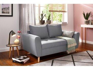 Home affaire 2-Sitzer »Penelope Luxus«, mit besonders hochwertiger Polsterung für bis zu 140 kg pro Sitzfläche, grau, silber